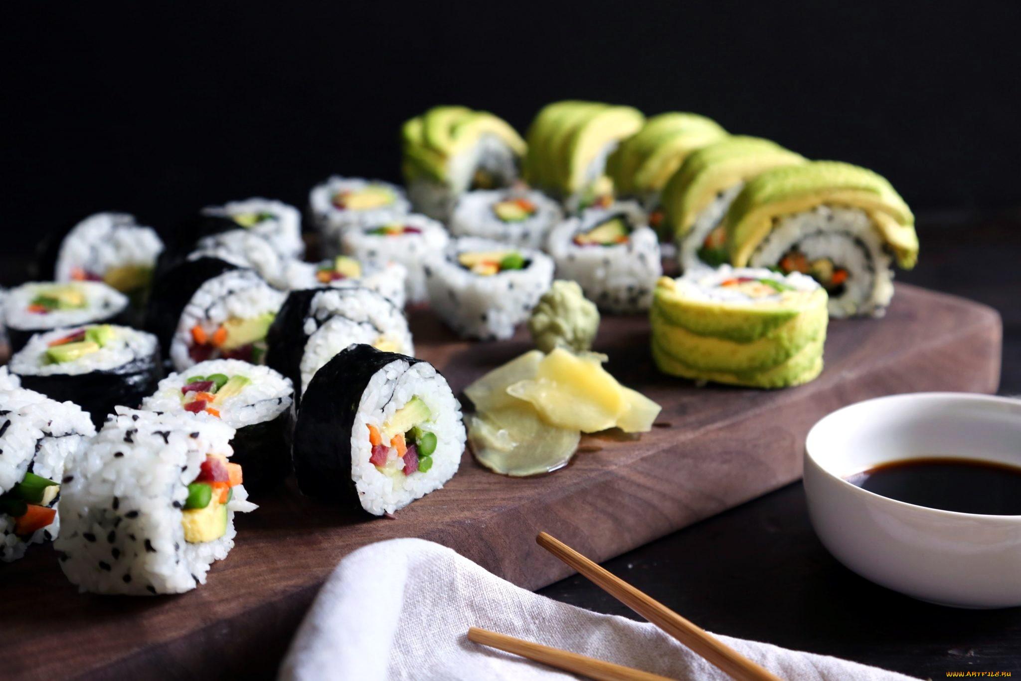 Картинка японские суши